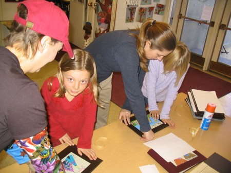 Second Graders Assemble their Books